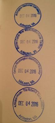 V.A. Cancelation Stamps 2016