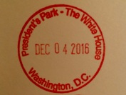 White House Cancelation Stamp 2016